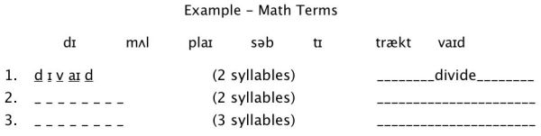 Short Syllaballistic Example